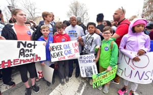 Continuing a lifetime of activism, Lewis joins a March For Our Lives protest, a student-led demonstration in support of legislation to prevent gun violence, in Atlanta, Georgia, 2018.