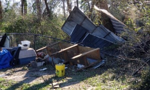 The White family's yard after Hurricane Michael.
