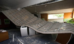 The European Museum's ceiling after it collapsed in Schengen