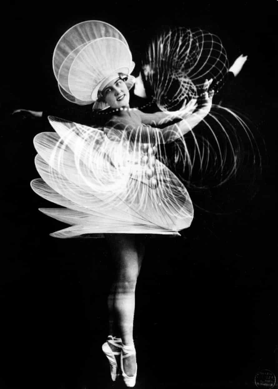 A dancer from the Triadic Ballet, developed in 1922 by Bauhaus teacher Oskar Schlemmer, who also designed the costumes.