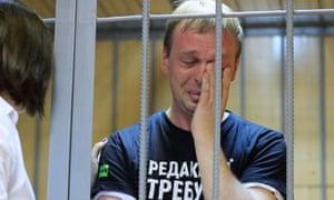 Ivan Golunov cries in court