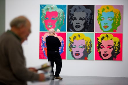 Work by Andy Warhol at Tate Liverpool in 2015.