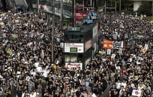 A 2003 march to protest the Hong Kong government's anti-subversion bill.