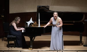 Flamboyant … soprano Samantha Quillish and pianist Julia Klimek of the Academy Song Circle.