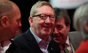 Len McCluskey at the Labour party conference