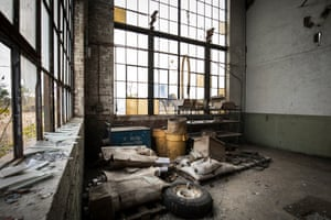 The disused BorgWarner factory in Muncie