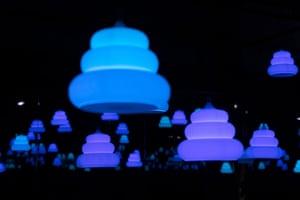 Poo-shaped lights