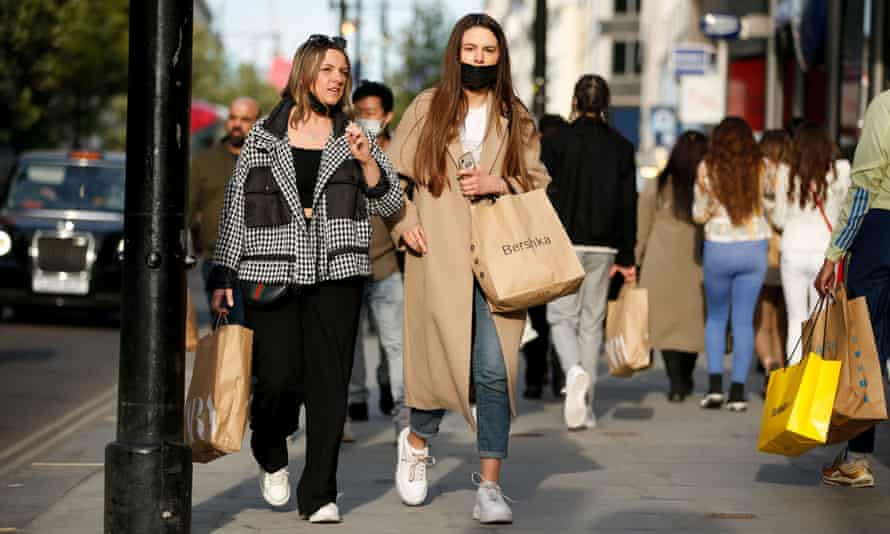 Shoppers in Oxford Street.