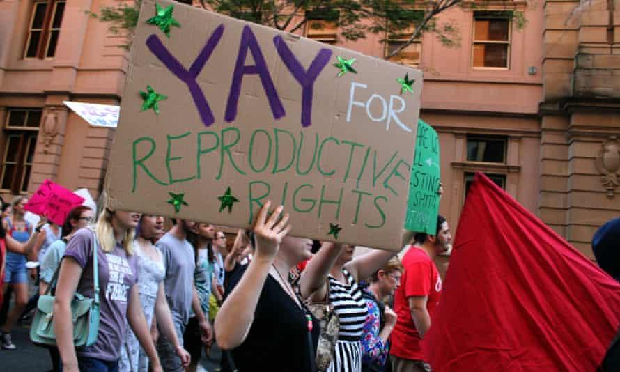 Pro-choice march in Brisbane