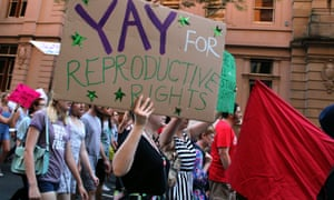 Pro-choice campaigners march in Brisbane