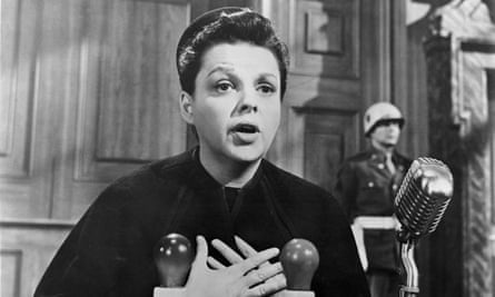 A long way from Oz … Judy Garland in Judgment at Nuremberg.