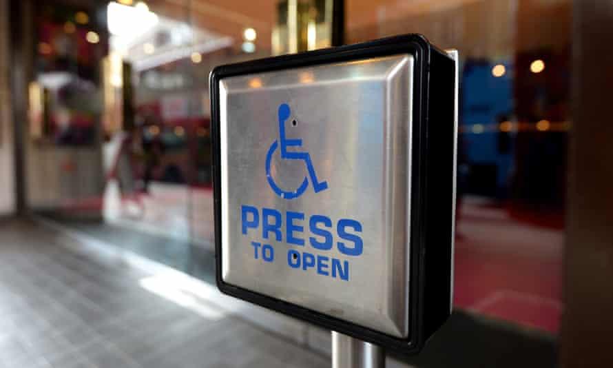 disabled entrance door button