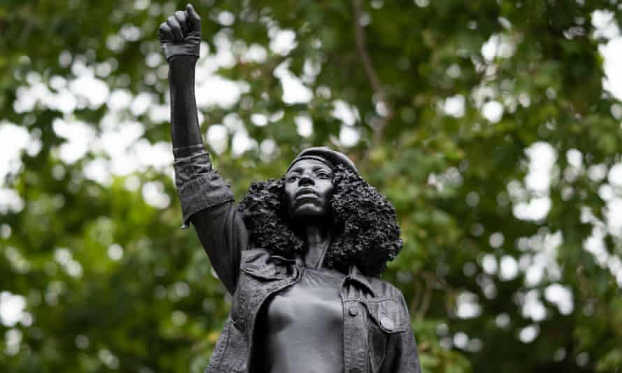 A sculpture by local artist Marc Quinn, of Black Lives Matter protester Jen Reid was placed on the plinth where the Edward Colston statue used to stand. It was subsequently ordered to be removed.