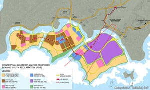 The plans for land reclamation in the south of Penang