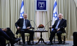 Tony Blair with Reuven Rivlin on Blair's official visit to Jerusalem in December last year.