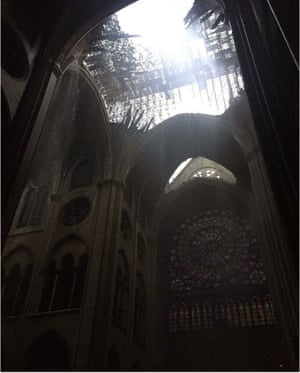 Daylight reveals the extent of the damage at Notre Dame