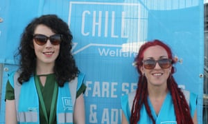 Keeping everyone together … Katie MacLeod and Michelle O'Loughlin of Chill Welfare