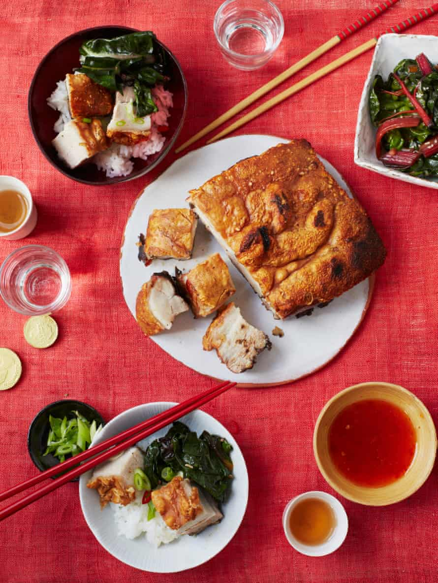 Andrew Wong's Cantonese crispy pork belly – serve as part of a banquet.