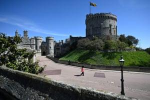 Lone guard in Windsor Castle