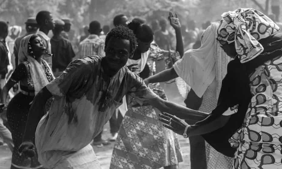 A dance competition at Sanda Kyarimi zoo in Maiduguri, as people enjoy the first Eid al-Adha with no no curfew.