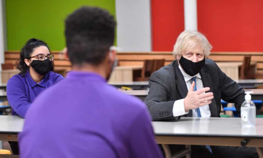 Boris Johnson speaks to students