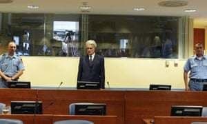 Karadžić faces the International Criminal Court in The Hague.