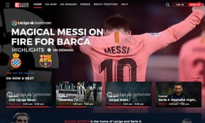 Elevensports.com's homepage.
