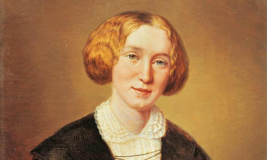 A portrait of George Eliot, pseudonym of Mary Ann Evans, by François d'Albert Durade