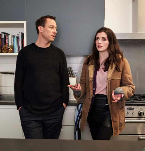 The back and forth of falling in love ... Tobias Menzies and Aisling Bea.