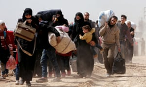 Syrians leave eastern Ghouta for regime-held areas.