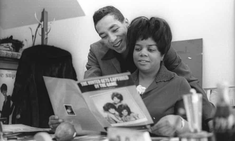 Former Motown Executive Esther Gordy Edwards and Smokey Robinson