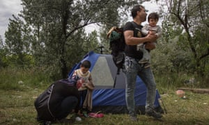 Yama Nayab and his family prepare to move camps awaiting their time to move onwards in to Hungary from Serbia. He was a surgeon in Afghanistan until he was stabbed by the Taliban.