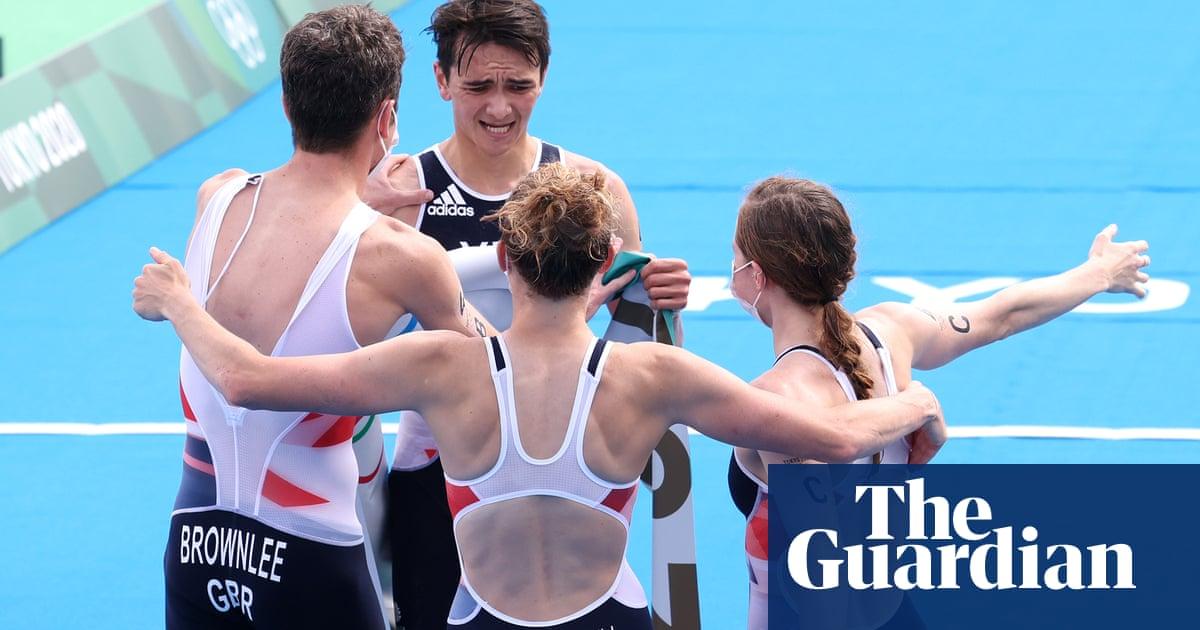 Team GB win Olympic triathlon relay as Jonny Brownlee finally claims gold