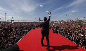 İmamoğlu addresses supporters during a rally in Istanbul
