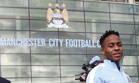 Raheem Sterling at the Etihad Stadium