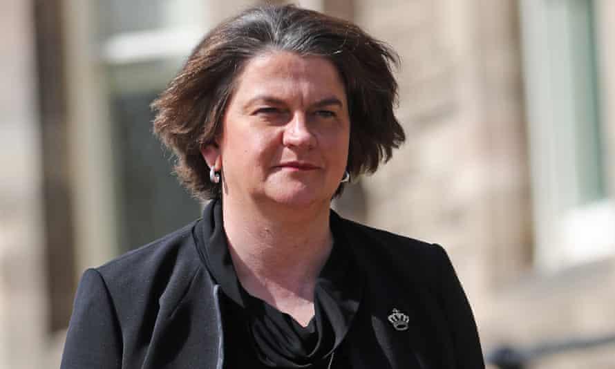 Arlene Foster arrives at Stormont on Wednesday