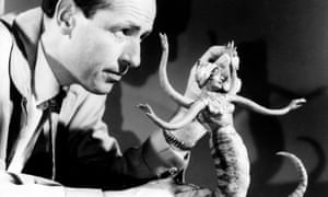 Ray Harryhausen at work on models for The 7th Voyage of Sinbad, 1958.