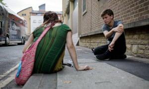 Sharron Maasz with Alex McCallion on the street in Oxford