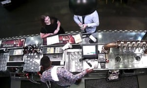 CCTV footage issued by Auckland City Police of Grace Millane at a bar inside the SkyCity casino in Auckland with the 27-year-old male who is accused of her murder.