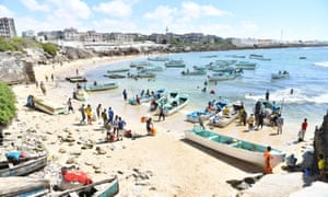 A fishing harbour in Mogadishu. 'You hear such nice stories about the city, but I
