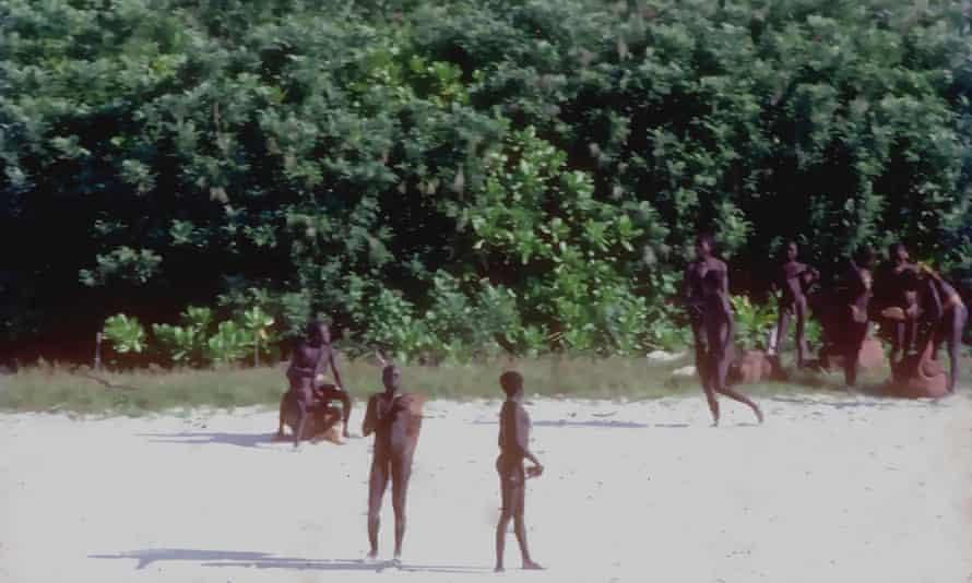 Jarawa people on North Sentinel Island