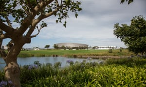 Daytime view of the Cape Town Stadium, South Africa.
