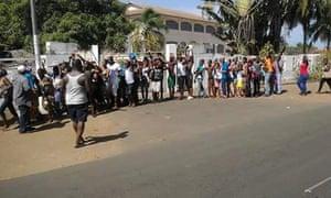 Scenes following a gun attack in Grand-Bassam.