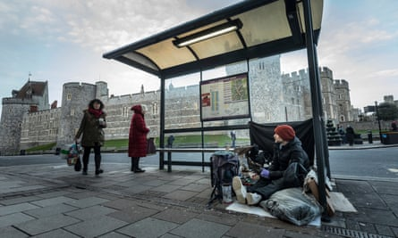 Stuart, aged 39, has been living on the streets in Windsor for the past 4 months.