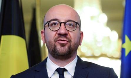 Belgium's PM Charles Michel