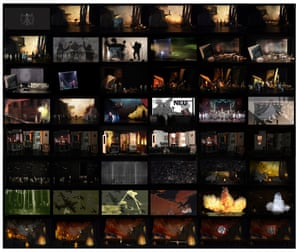 Model storyboard for The Damnation of Faust