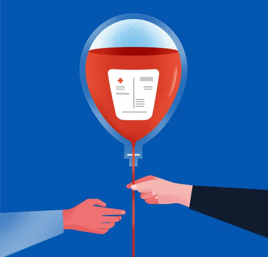 An illustration of a balloon filled with blood