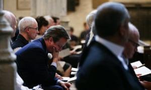 David Cameron at the service to commemorate Jo Cox