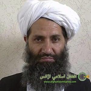Taliban leader Hibatullah Akhundzada poses for a portrait.
