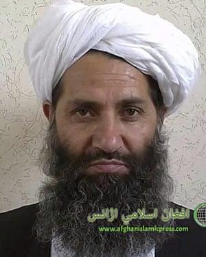 The leader of the Afghanistan Taliban Mawlawi Hibatullah Akhundzada